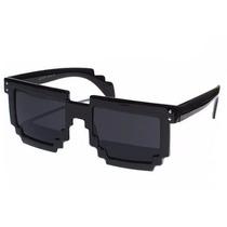 Óculos Sol Escuro 8 Bits Bit Geek Nerd Pixel Pixelado Unisex
