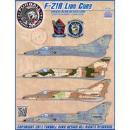 Decalque Avião Kfir F-21a 48-020 Lion Cubs 1/48 Furball