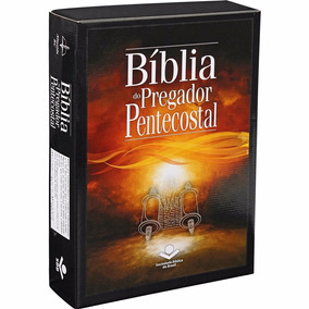 Bíblia Do Pregador Pentecostal Preta Índice Esboços Curso Te