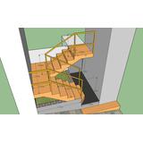 Escada Ferro Reta + Corrimão