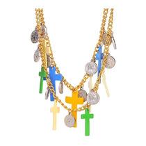 Exclusivo Collar Bohemio Moda Brasileña Enamel Y Oro 18kgp