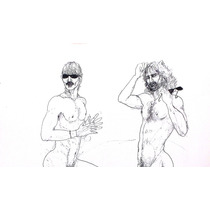 Pareja De Hombres Desnudos (garcía Mora 82) Para Conocedores