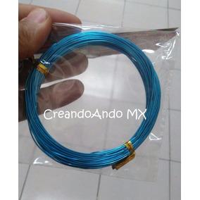 Alambre Para Bisuteria Aluminio 1.2 Mm X 5 Mts Color Azul