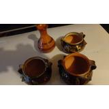 Vasijas Ceramicas Artesanias Con Incrustaciones De Metal