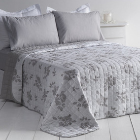 Cubrecama Reversible King Size Estampado Flor Bouquet