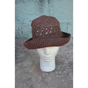 Sombrero Gorro Tejido A Crochet Con Hilo Algodon