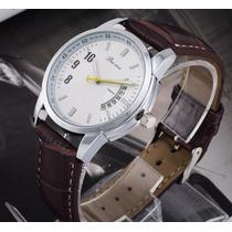 Relógio Masculino Marrom Social Clássico Marca Importada