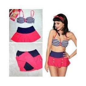Biquini Bikini Saia Importado Pinup Vintage Frete Grátis