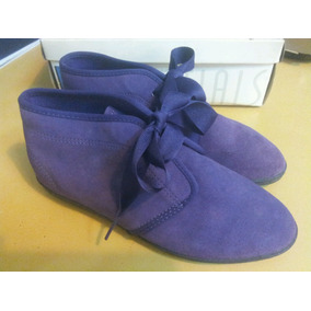 Botas Bajas De Gamuza Violeta. Keds N° 35 (chico) Unico Par