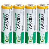 Pila Bateria Recargable Aa Nimh 3000 Blister Con 4 Pilas