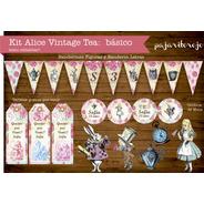 Kit Imprimible Vintage Alicia