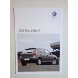 Folheto Simples Ficha Técnica Vw Gol Geração 4 Ano 2010