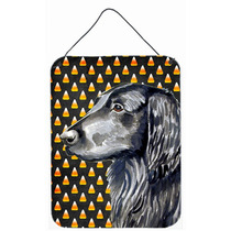 Coated Retriever Retrato Plana Halloween De Las Pastillas Pa
