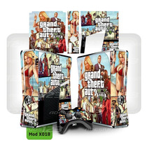 Capa Xbox 360 Slim Vinil Película Skin Adesivos