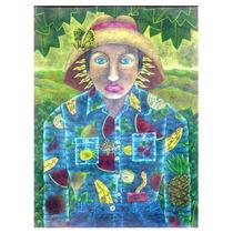 Pïntura Juan José López Mrs Miranda Mixta /papel 58x43 Arte