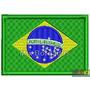 Patch Bordado Termocolante- Bandeira Países - Brasil 7x4,5cm