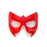 Máscara Antifaz Nightwing Robin Rojo Cosplay Batman De Cuero