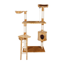Mueble Para Gato Con Casa Y Escalera 158 Cm Fl 8459