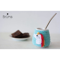 Mate Unicornio Funda Crochet