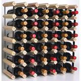 Adega Para 81 Garrafas De Vinho Madeira 88x78x24cm