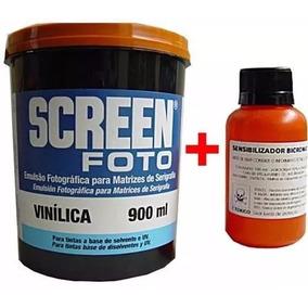 Tela - Emulsão - Removedor - Calha - Tinta - Solvente - Copo