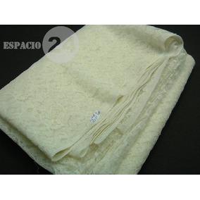Pieza De Tela De Encaje De Nylon Color Blanco (corte),