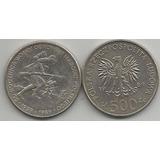 Moneda De Polonia 500 Zlotych 50 Aniv. 2da. Guerra Mundial