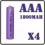Batería Aaa Recargeable 1800mah 1.2v Paquete De 4