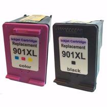 Hp 901 Xl Preto + 901 Color Compatível Alto Rendimento