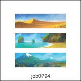 Adesivo Decorativo Parede Quadros Pintura Paisagem Job0794