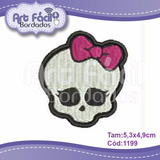Matriz Bordado Caveira Monster High 5,3x4,9cm Cód.1199