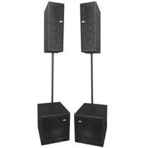 Sistema De Pa Ativo Compacto Portátil 4000rms Nhl Pro Sound
