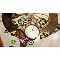 Reloj De Metal Americano De Mariposas $1500 Envio Gratis