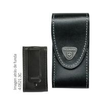 Funda De Piel Negra Con Clip Victorinox P/ Navajas 91mm Hm4