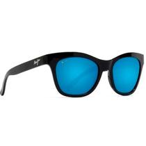 B722-02 Lente Maui Jim Sweet Leilani Negro Gloss/azul Hawaii