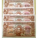 Lote De 4 Billetes Nuevos Correlativos Rou 1 Pesos Año 1939