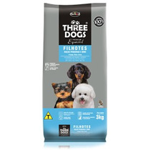 Ração Three Dogs Filhotes Raças Pequenas E Mini 15 Kg