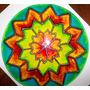 Mandalas En Vidrio Pintados A Mano, 13 Cm. Artesanales!!!