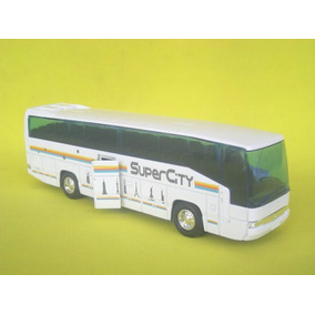 Colectivo Ómnibus Mercedes Benz Escala 1:60 Welly Bus Blanco