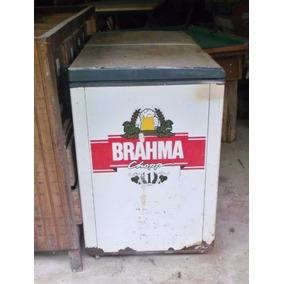 Antigo Freezer Da Brahma Para Restauração Ou Decoração Retro
