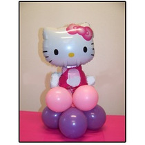 Centro De Mesa Kitty Globos