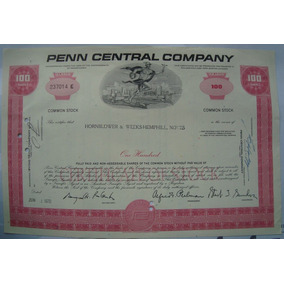 Apolice - The Penn Central Corporation, Ano 1970 - 237014e