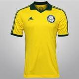 Camisa Palmeiras Adidas Centenário Amarela Copa 2014
