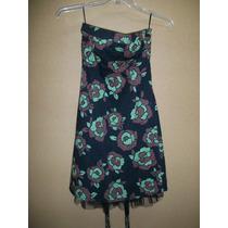 Vestido Estampado Strapless Berhska Para Dama S-30