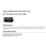 Zoom Telefoto Canon + Filtro Uv