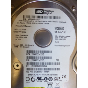 Placa Lógica Hdd Western Digital P/n: Wd800jd - 60msa1