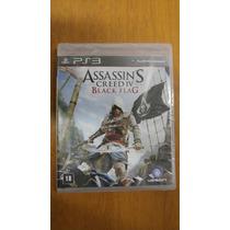 Jogo Ps3 Assassins Creed Iv Black Flag Novo Lacrado Portuguê