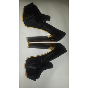 Sandalias Color Negro Con Plataforma Moda 2016
