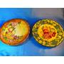 El Arcon Par De Platos De Ceramica Pintados A Mano 35101