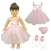 Mariposa Rosa Armario Ballet Bailarina Danza Vestido Par X01
